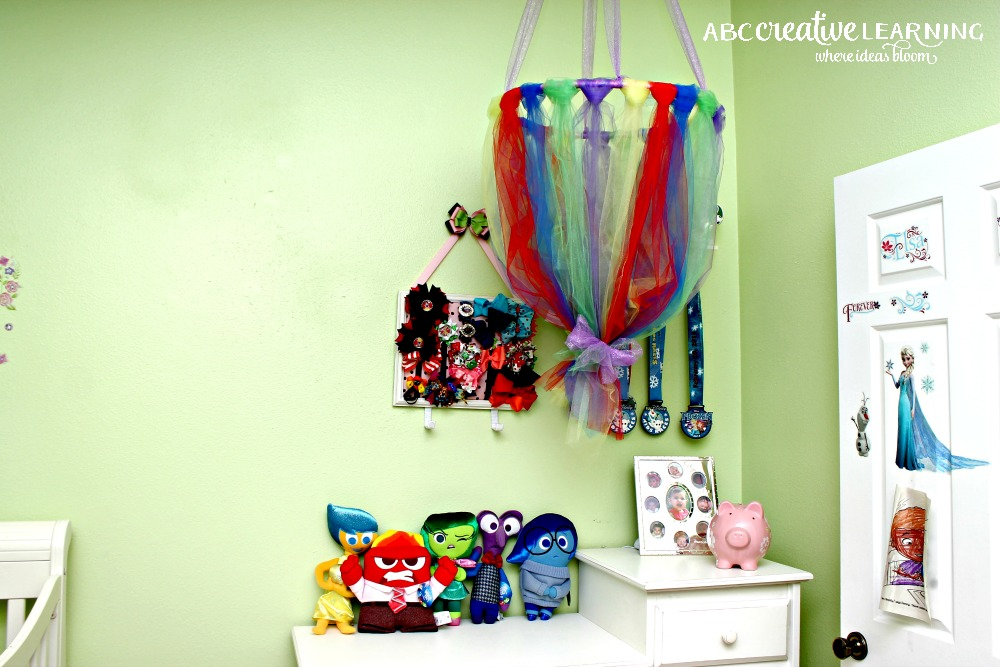 No Sew Tulle Toy Plush Holder Inspired by Inside Out Emotions hanging