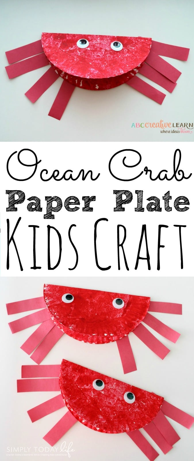 Paper Plate Ocean Crab Craft For Kids  sc 1 st  ABC Creative Learning & Easy Paper Plate Ocean Crab Craft For Kids To Celebrate Summer Time