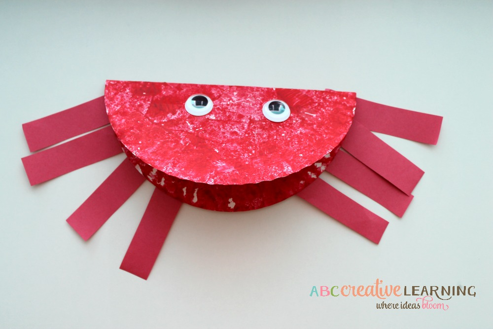 Paper Plate Ocean Crab Craft For Kids : paper plate crab - pezcame.com