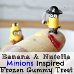 Banana and Nutella Minions Inspired Frozen Gummy Treat
