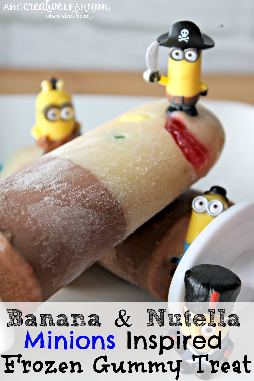 Banana and Nutella Minions Inspired Frozen Gummy Treat