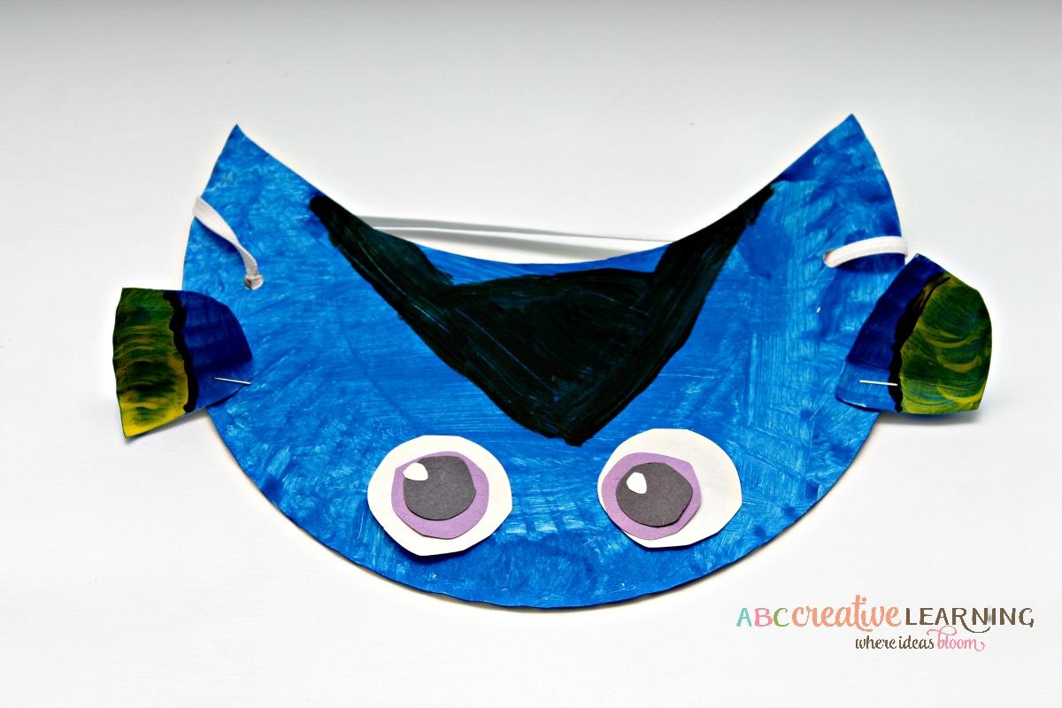 Finding Nemo Inspired Paper Plate Visor Hat for Kids Dory