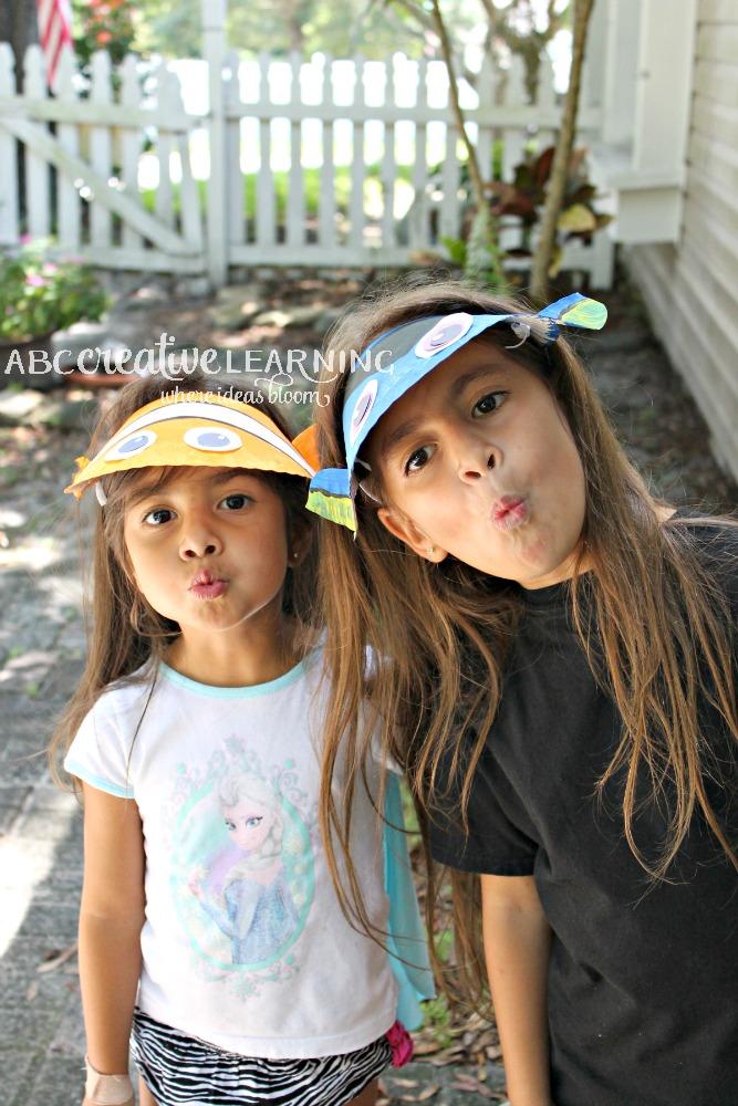 Finding Nemo Inspired Paper Plate Visor Hat for Kids Fish Faces