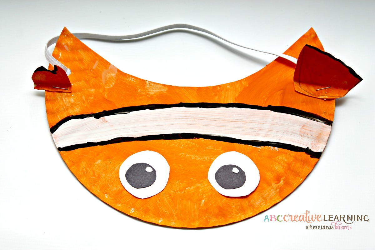 Finding Nemo Inspired Paper Plate Visor Hat for Kids Nemo