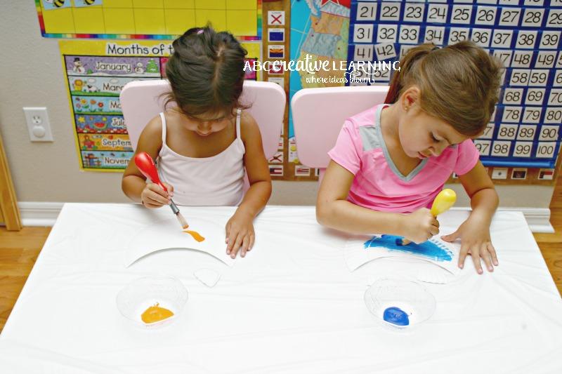 Finding Nemo Inspired Paper Plate Visor Hat for Kids Painting