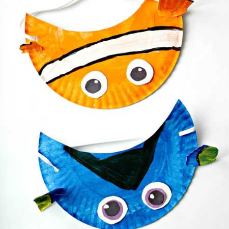 Finding Nemo Inspired Paper Plate Visor Hat For Kids