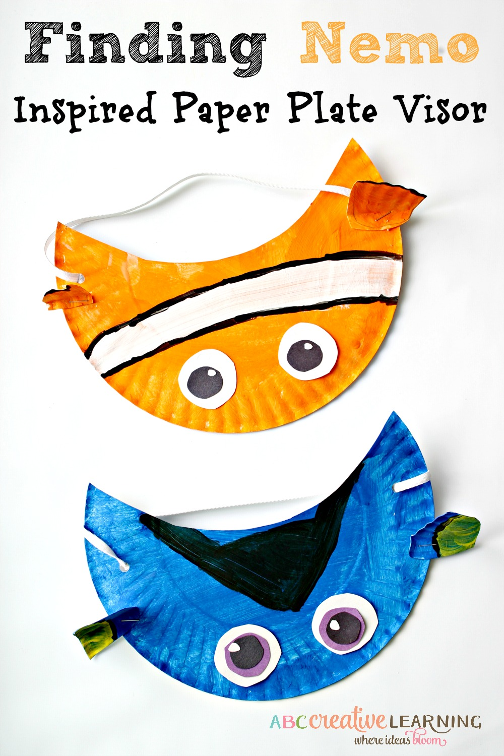 Finding Nemo Inspired Paper Plate Visor Hat for Kids - abccreativelearning.com  sc 1 st  ABC Creative Learning : paper plate seagull craft - Pezcame.Com