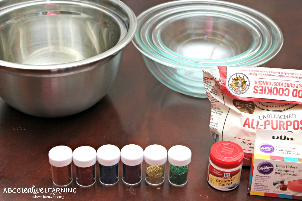 Homemade Sparkly Playdough Inspired by Pixie Hallow Ingredients