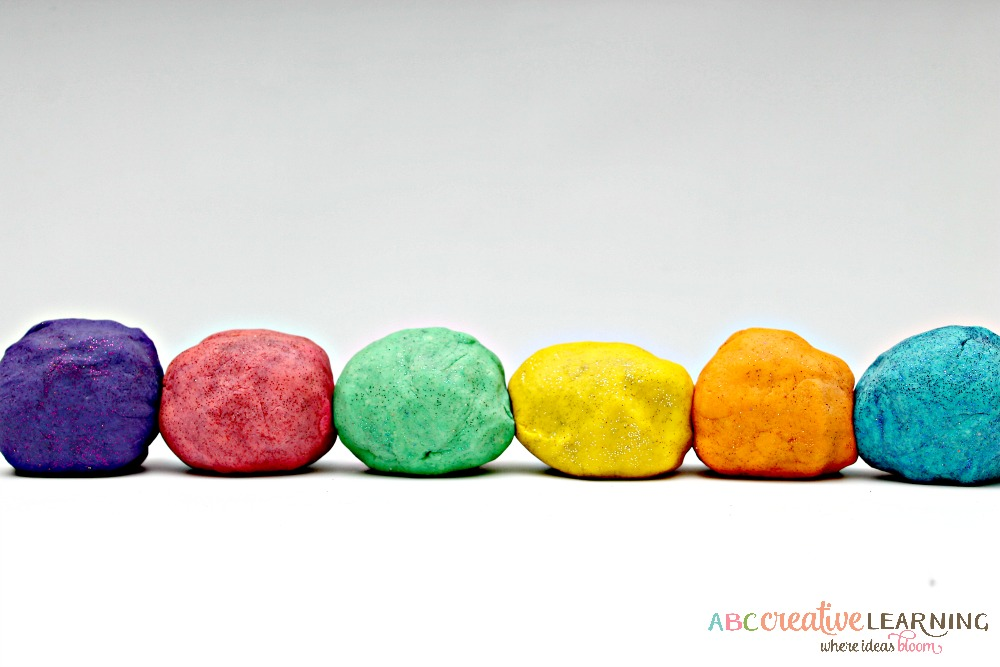 Homemade Sparkly Playdough Inspired by Pixie Hallow RWM