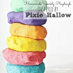 Homemade Sparkly Playdough Inspired by Pixie Hallow