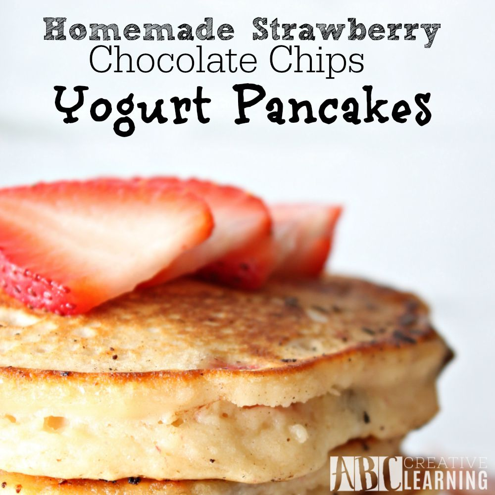 Homemade Strawberry Chocolate Chips Yogurt Pancakes + Paypal Giveaway