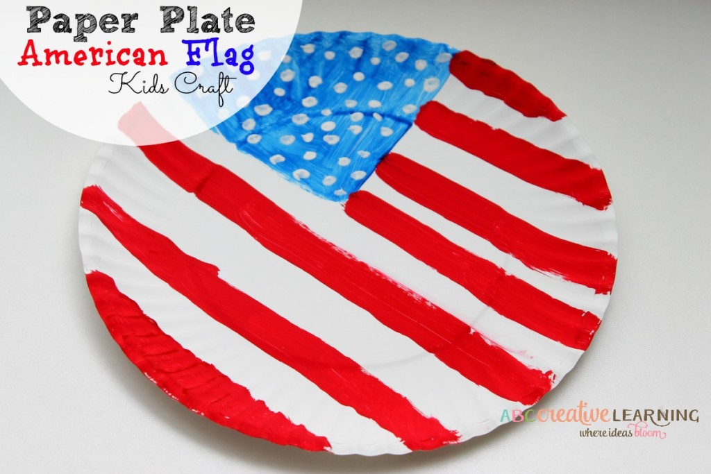 Paper Plate American Flag Kids Craft Kids
