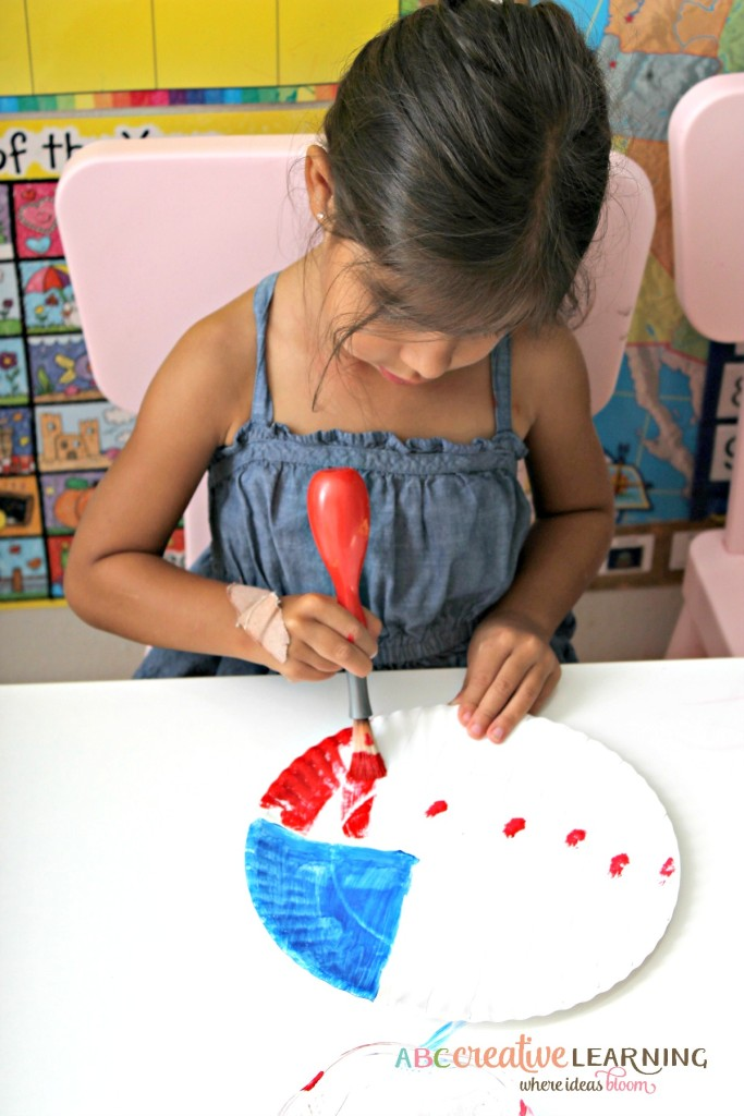 Paper Plate American Flag Kids Craft for Kids