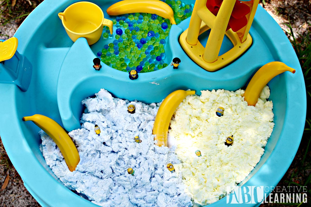 Sensory Play with the Minions over