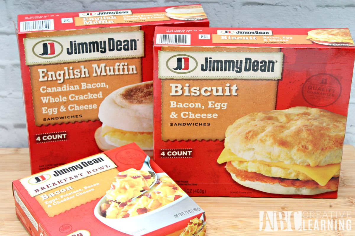 Breakfast on the go with Jimmy Dean product