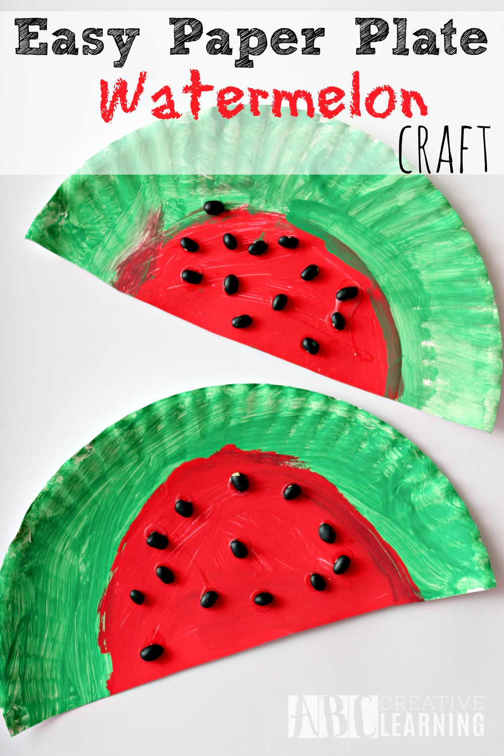 Easy Paper Plate Watermelon Kids Craft Perfect For Summer