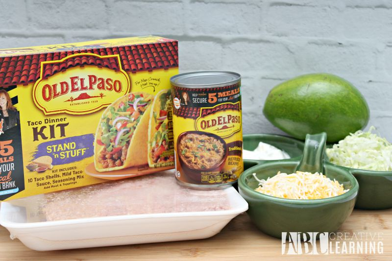 Easy Turkey and Avocado Taco Recipe + Paypal Giveaway Ingredients