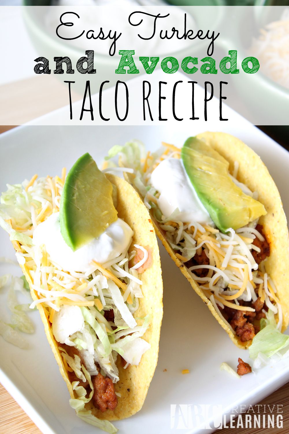 Easy Turkey and Avocado Taco Recipe + Paypal Giveaway
