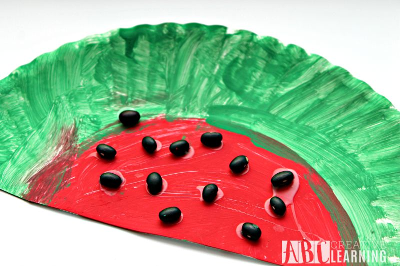 Watermelon Art and Craft & Easy Paper Plate Watermelon Kids Craft Perfect For Summer