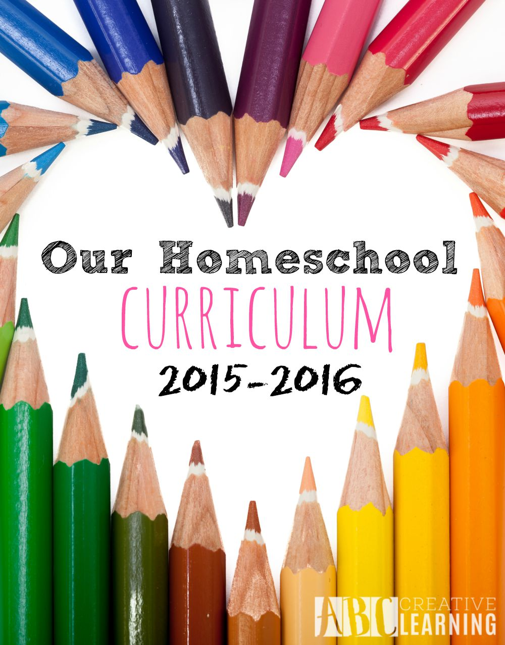 Our Homeschool Curriculum 2015-2016! We can't wait to dig into a year of Preschool and First Grade! - abccreativelearning.com