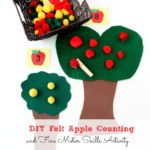DIY Felt Apple Counting and Fine Motor Skills Activity
