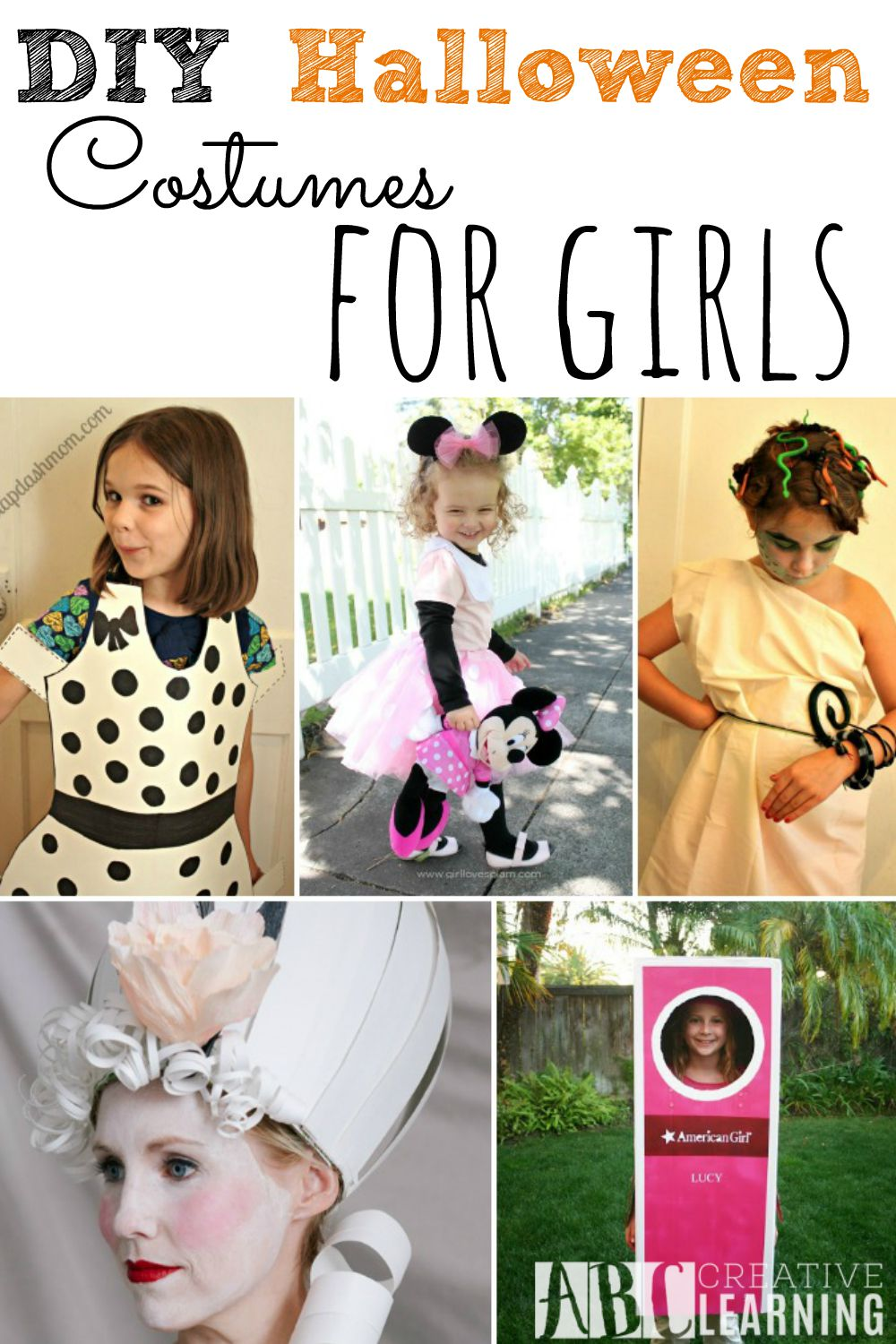 DIY Halloween Costumes for Girls Easy