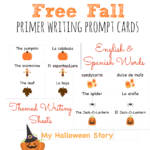 Free Fall Writing Prompts in English and Spanish