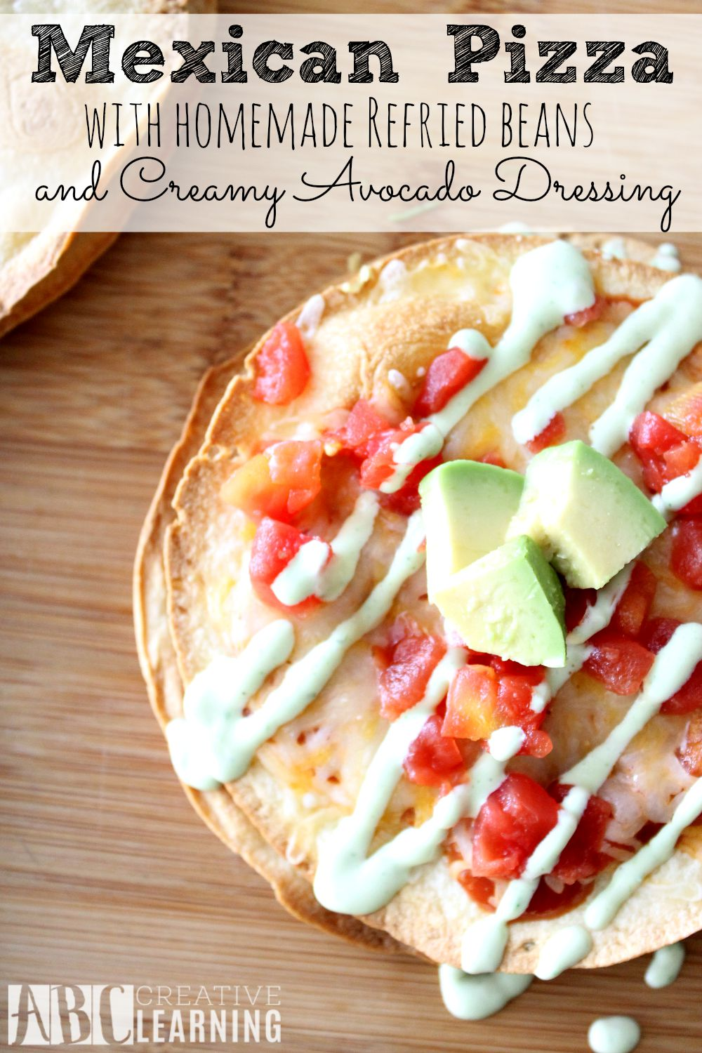 Mexican Pizza with Homemade Pinto Beans