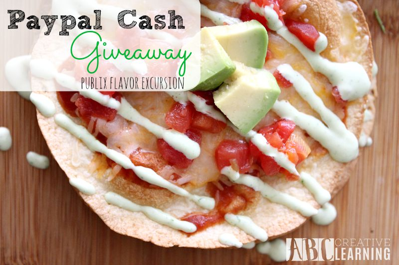 Mexican Pizza with Homemade Refried Beans and Creamy Avocado Dressing Paypal Cash Giveaway