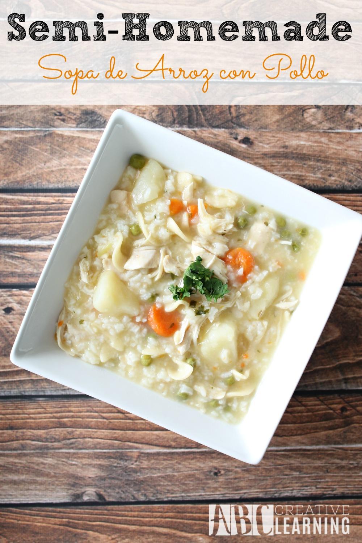 Semi-Homemade Arroz Con Pollo Soup Recipe Sopa