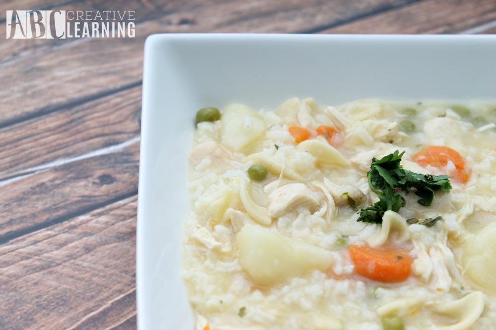 Semi-Homemade Arroz Con Pollo Soup Recipe close