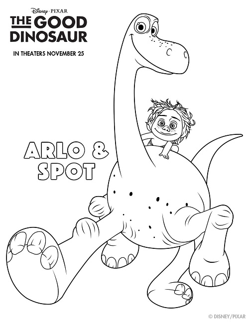 The Good Dinosaur Free Coloring and Activity Sheets #GoodDino Coloring Sheet