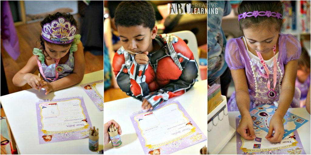 Host a Disney Junior Dear Sofia Playdate Party Writing