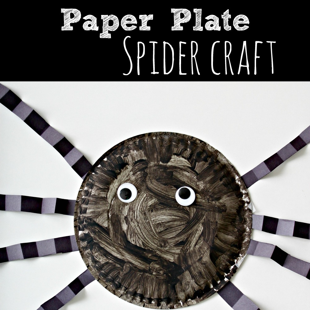 sc 1 st  Simply Today Life & Paper Plate Spider Craft - Simply Today Life
