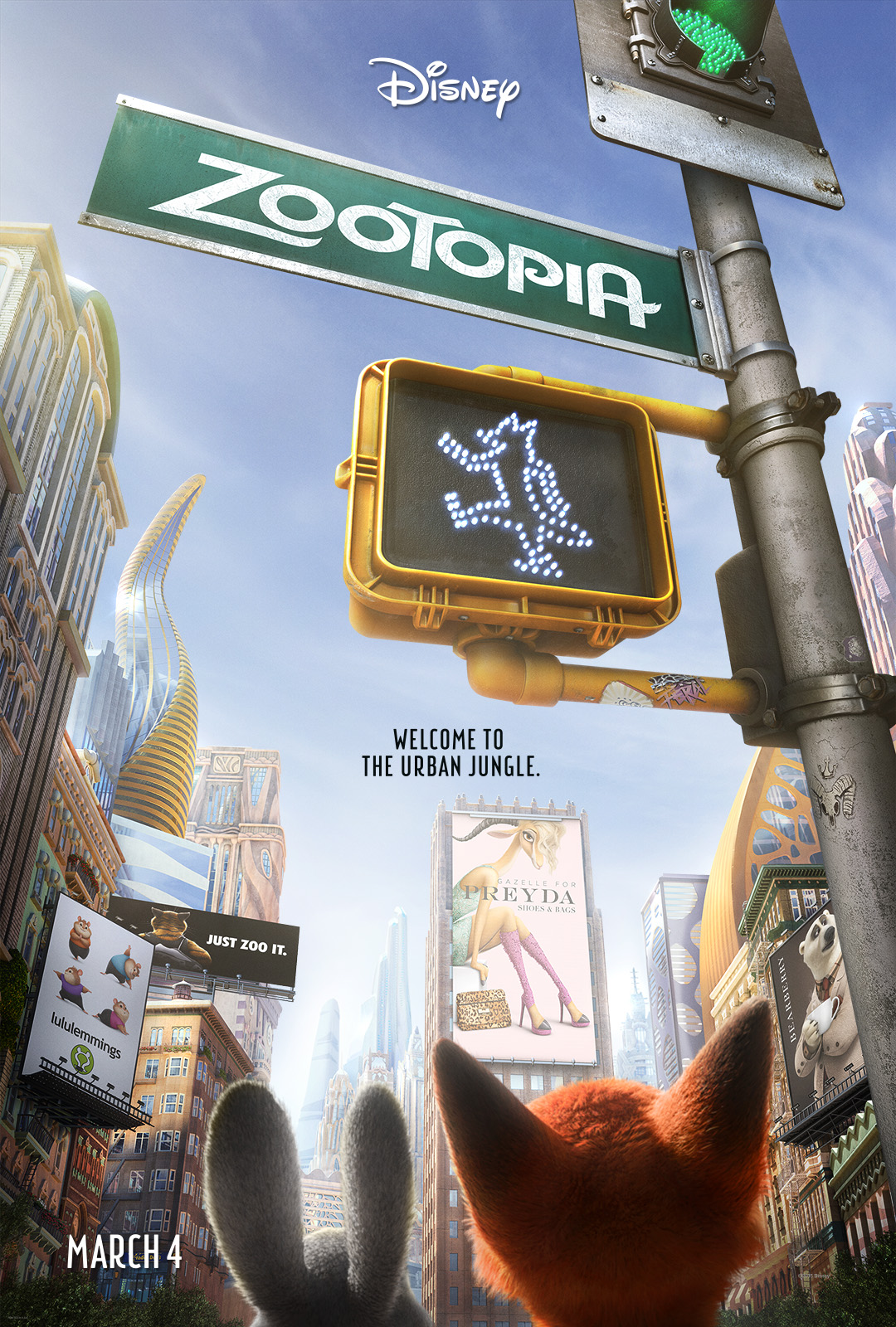 Disney Zootopia Movie Poster and Trailer