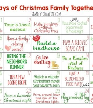 Christmas Calendar Activity For Families