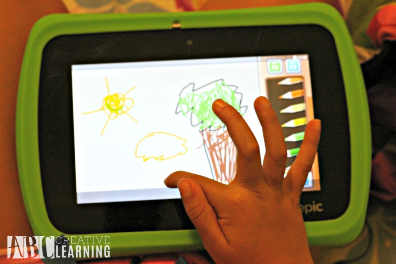 Creativity and Imagination with the LeapFrog Epic Tablet drawing