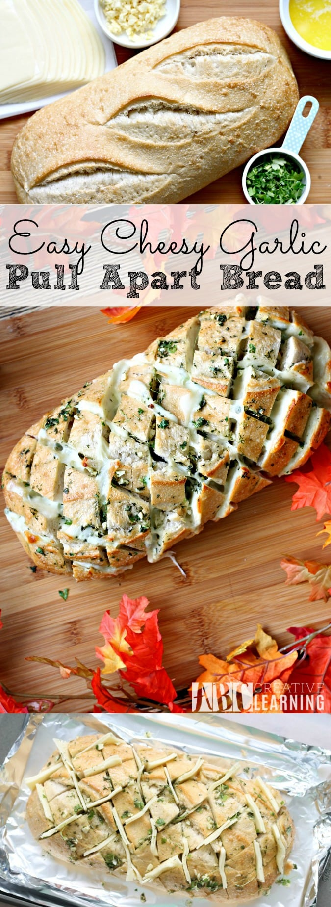 Easy Cheesy Garlic Pull Apart Bread and NESTLÉ® STOUFFER'S® Family Size Entreés - simplytodaylife.com