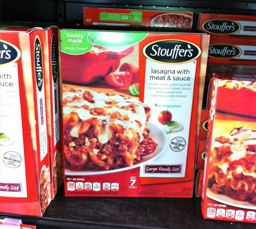 Easy Cheesy Garlic Pull Apart Bread and Stouffer's Lasagna Walmart