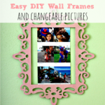 Easy DIY Wall Frames and Changeable Pictures