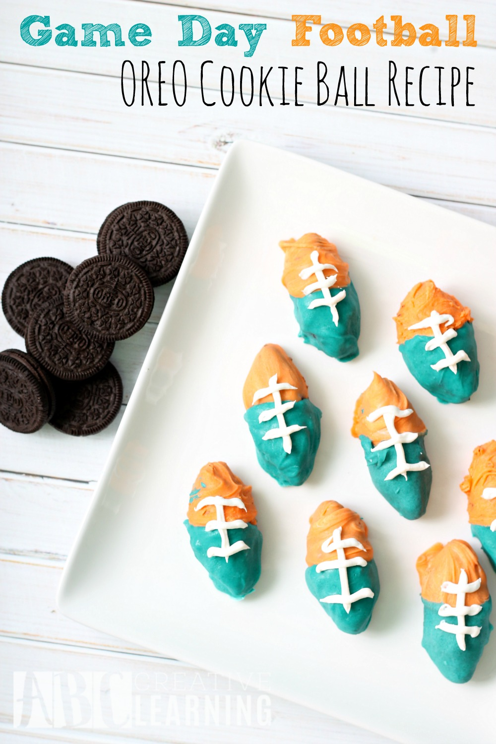 Game Day Football OREO Cookie Ball Recipe