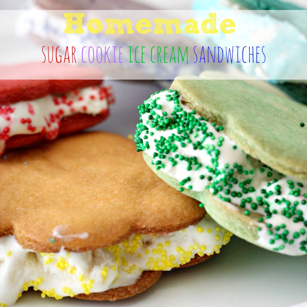 Homemade Sugar Cookie Ice Cream Sandwiches - Simply Today Life