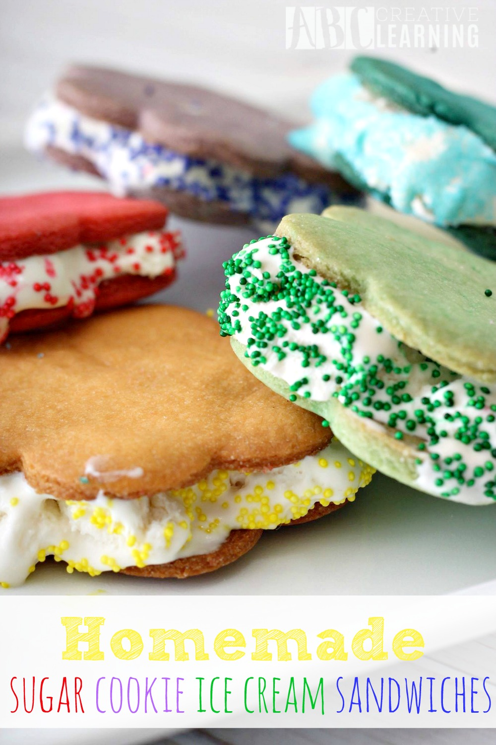 Homemade Sugar Cookie Ice Cream Sandwiches - ABC Creative Learning