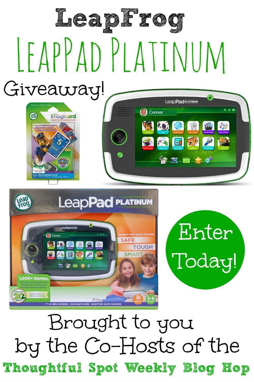 LeapFrog LeapPad Platinum Giveaway