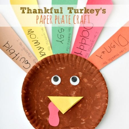 Thankful Turkeys Paper Plate Craft SQ