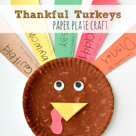 Thankful Turkeys Paper Plate Craft