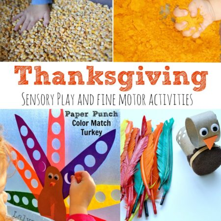 Thanksgiving Sensory Play and Fine Motor Activities
