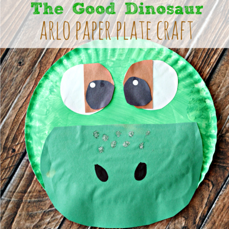 The Good Dinosaur Arlo Paper Plate Craft