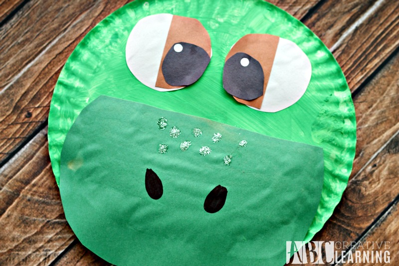 The Good Dinosaur Arlo Paper Plate Craft close up