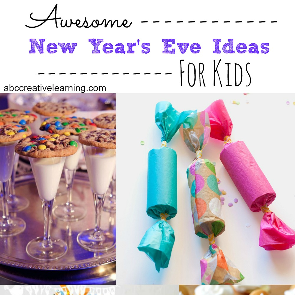 best kids new years eve party ideas and activities! AWESOME KIDS NEW YEARS EVE IDEAS TO BRING IN THE NEW YEAR We do an early countdown and keep bedtime pretty consistent with our kiddo, but we make the most of our early evening with quite the mess!